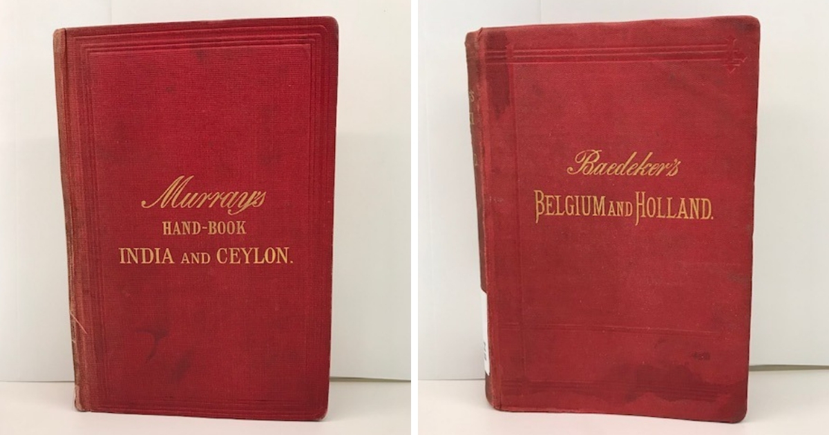red cover with gilt lettering