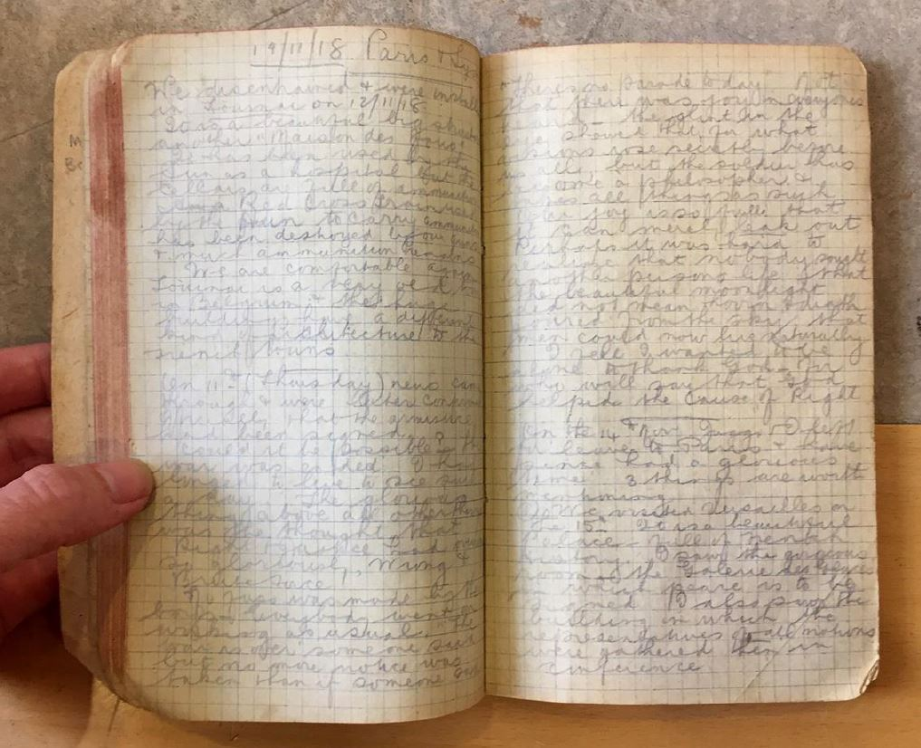 open pages of a diary