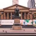 Giant student artworks transform State Library