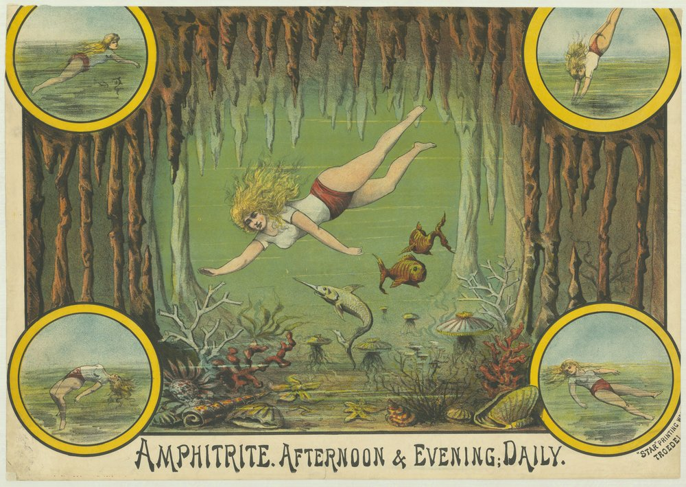 Amphitrite – Afternoon & evening daily, Waxworks poster, H2000.180/59