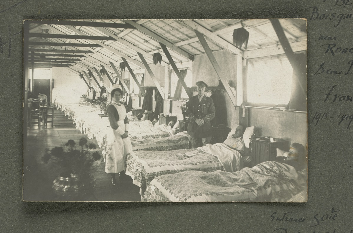 patients in hospital beds