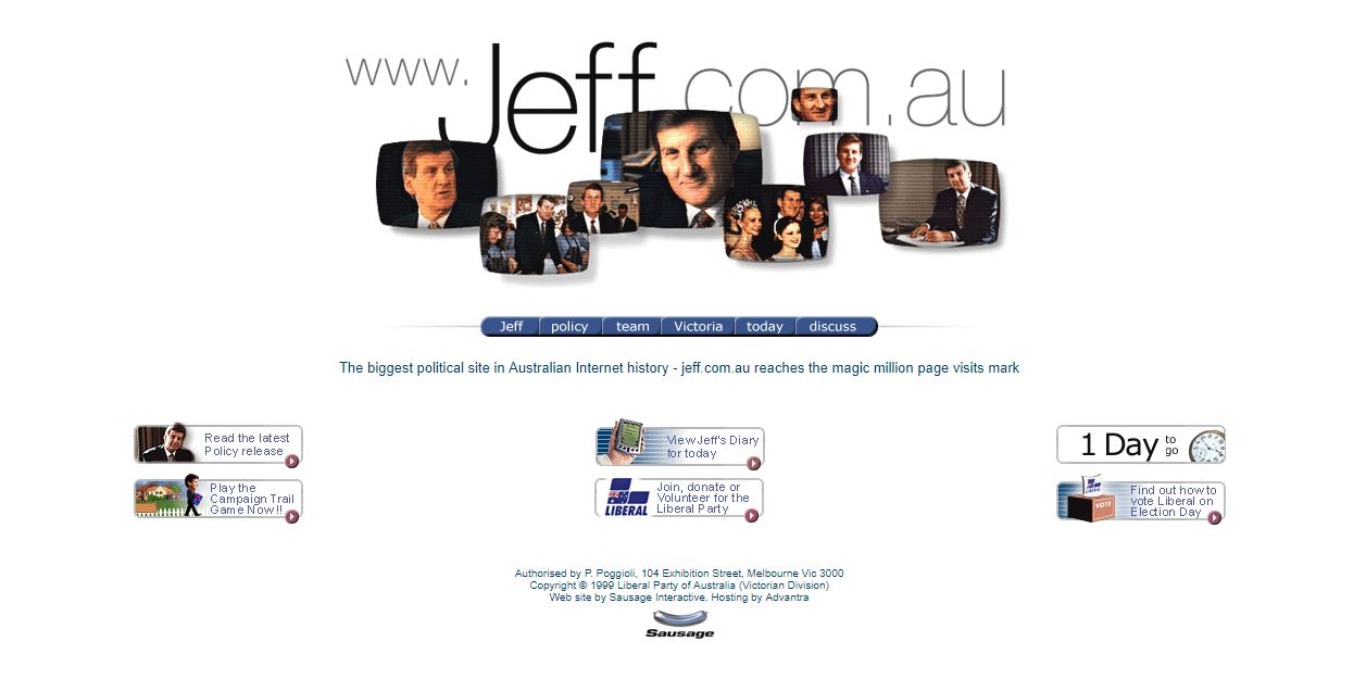 Jeff Kennett website screenshot