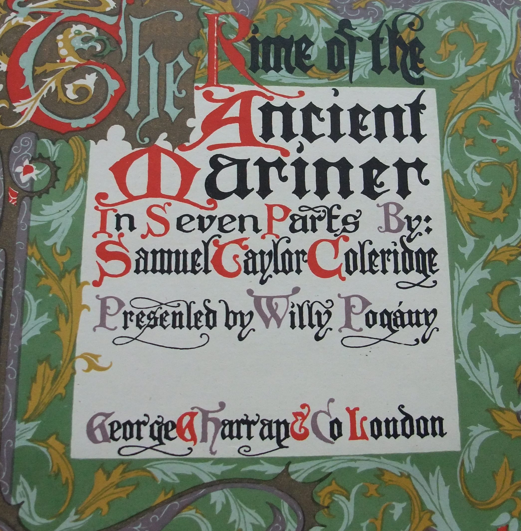 title page of The rime of the ancient mariner