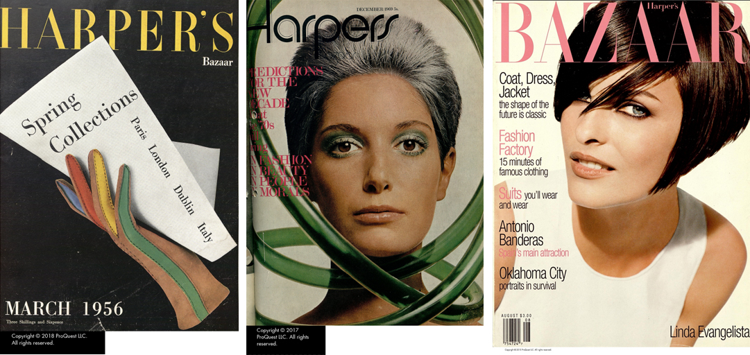 Harpers Bazaar magazine covers