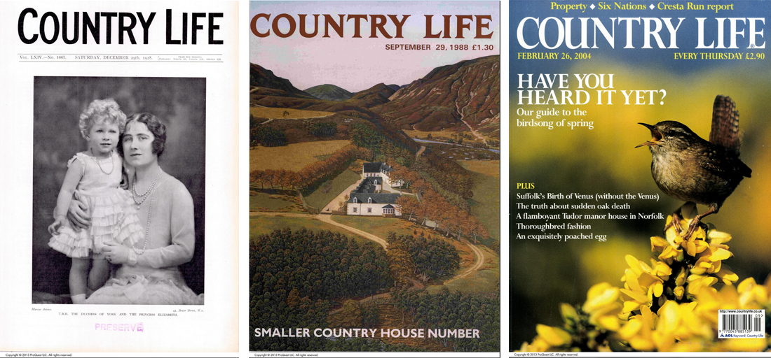 Country life magazine covers