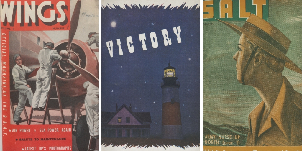 service newspapers from WWII