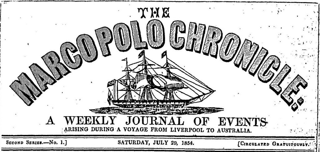 The Marco Polo chronicle : a weekly journal of events arising during a voyage from Liverpool to Australia.
