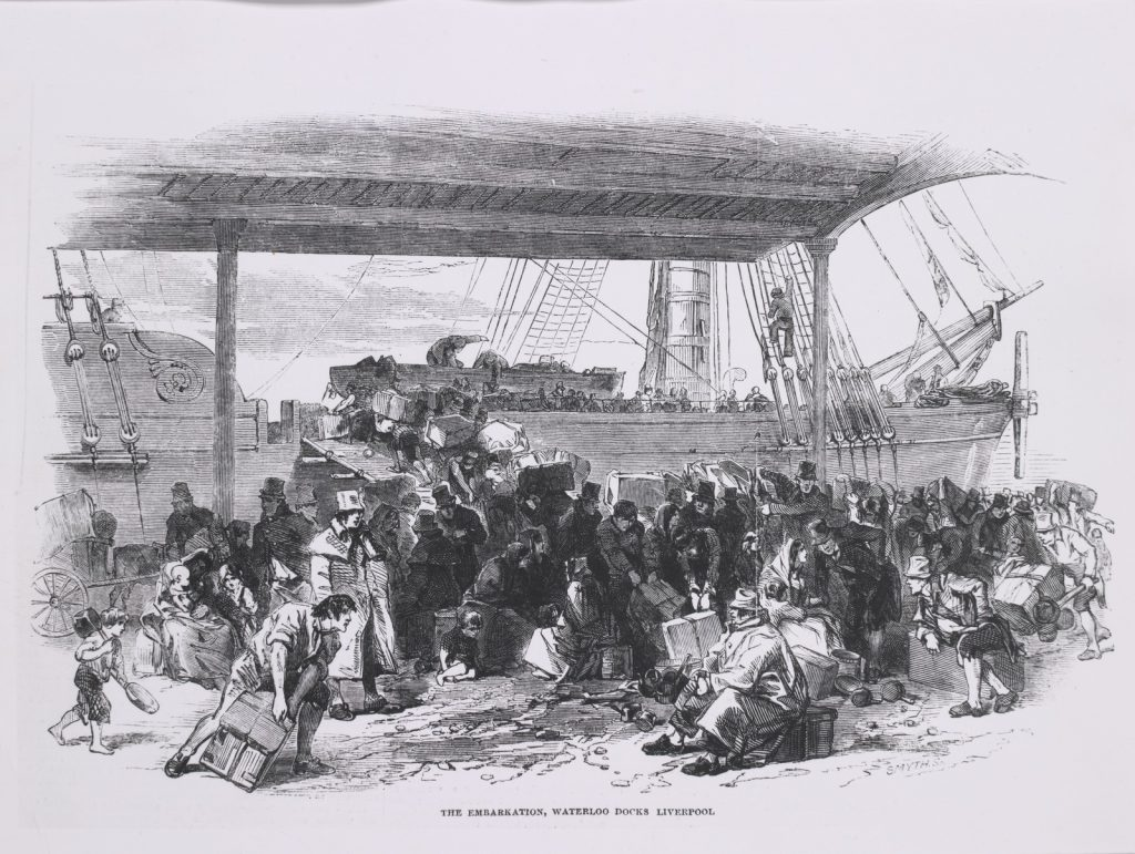 The embarkation, Waterloo Docks, Liverpool