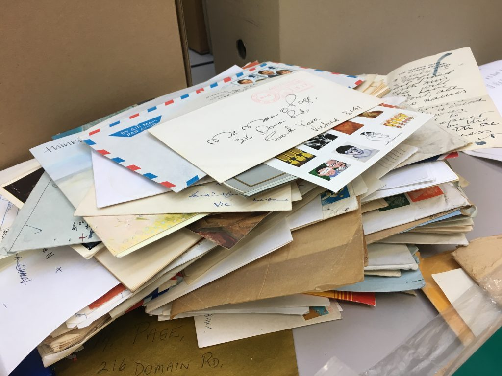 Pile of miscellaneous letters