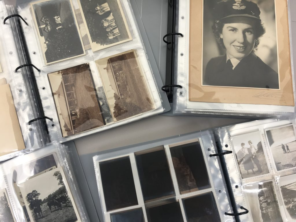 Photographic material in archival albums