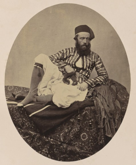 Portrait of Francis Frith in 'native' dress.