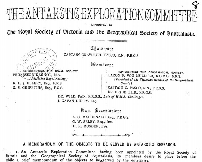 Antarctic Exploration Committee