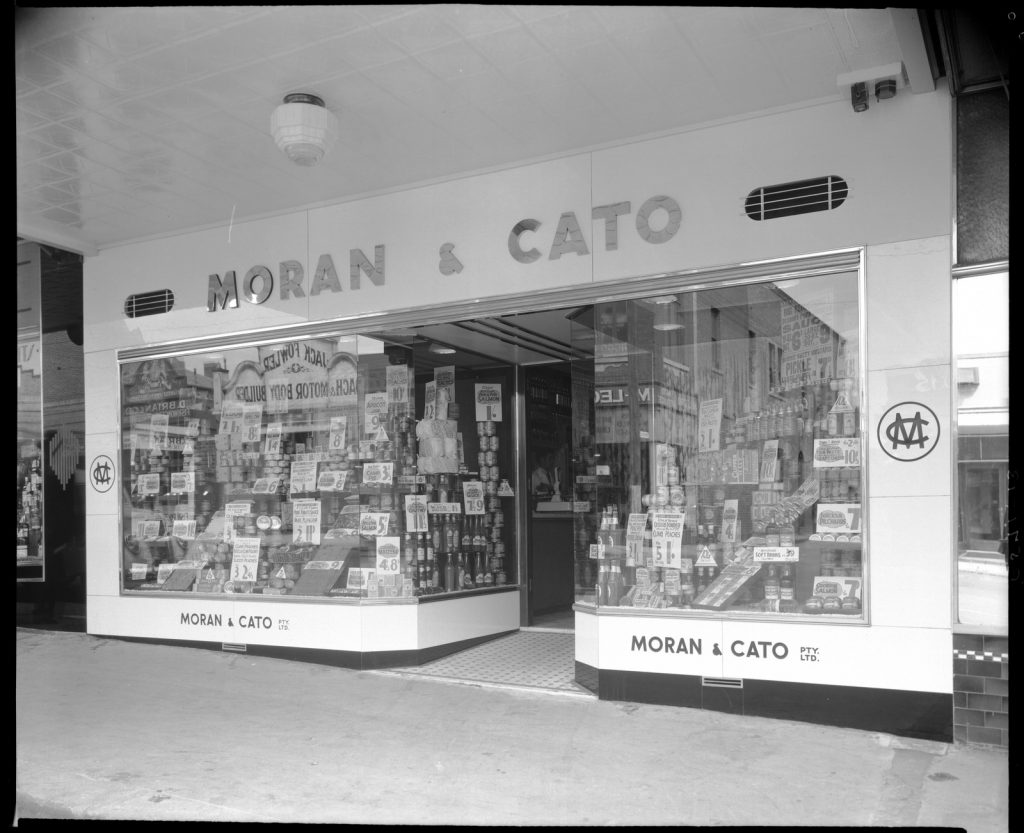 [Exterior of Moran & Cato Grocery Store, 87 Toorak Road, South Yarra]