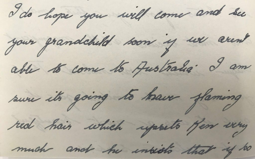 Cropped close up image of a handwritten letter in black ink