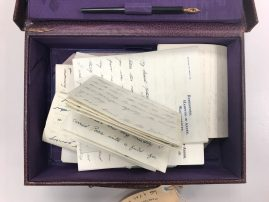 Original writing box containing correspondence, from the Syme Family Papers collection