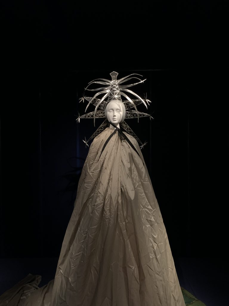 Mannequin with head piece and cloak