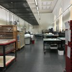 View of empty conservation lab