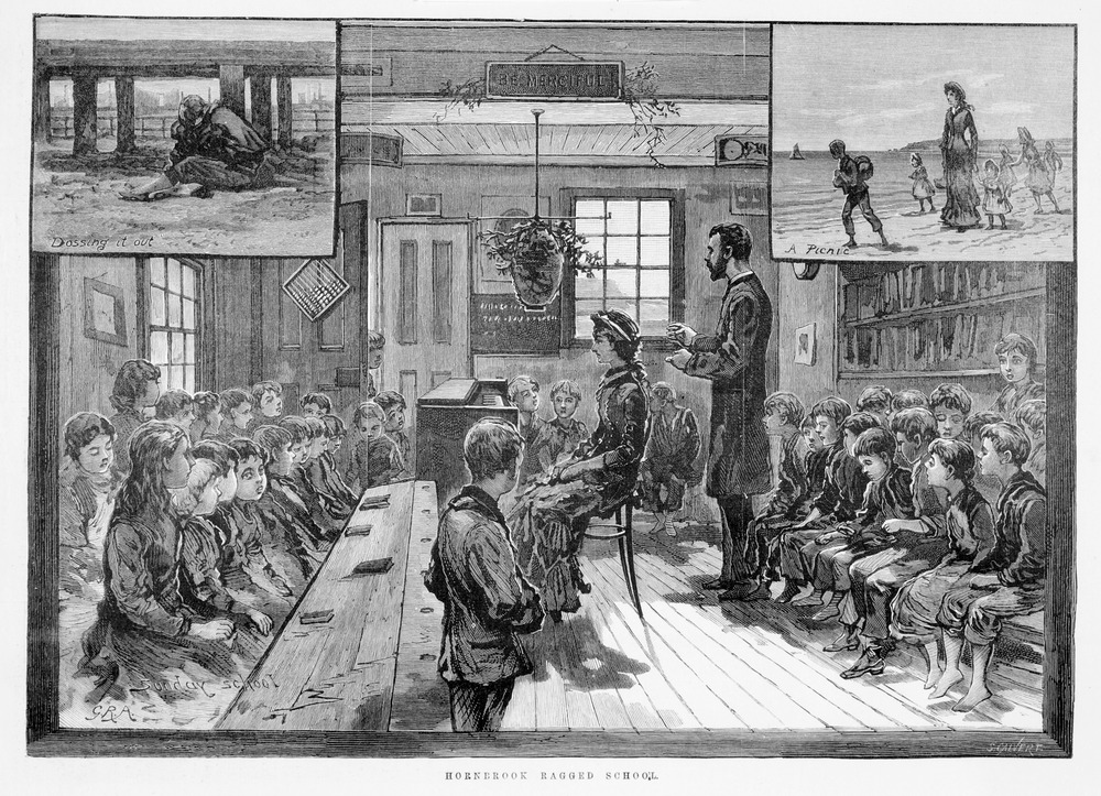 Illustration of 19th-century classroom