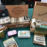 Collectible cards in boxes