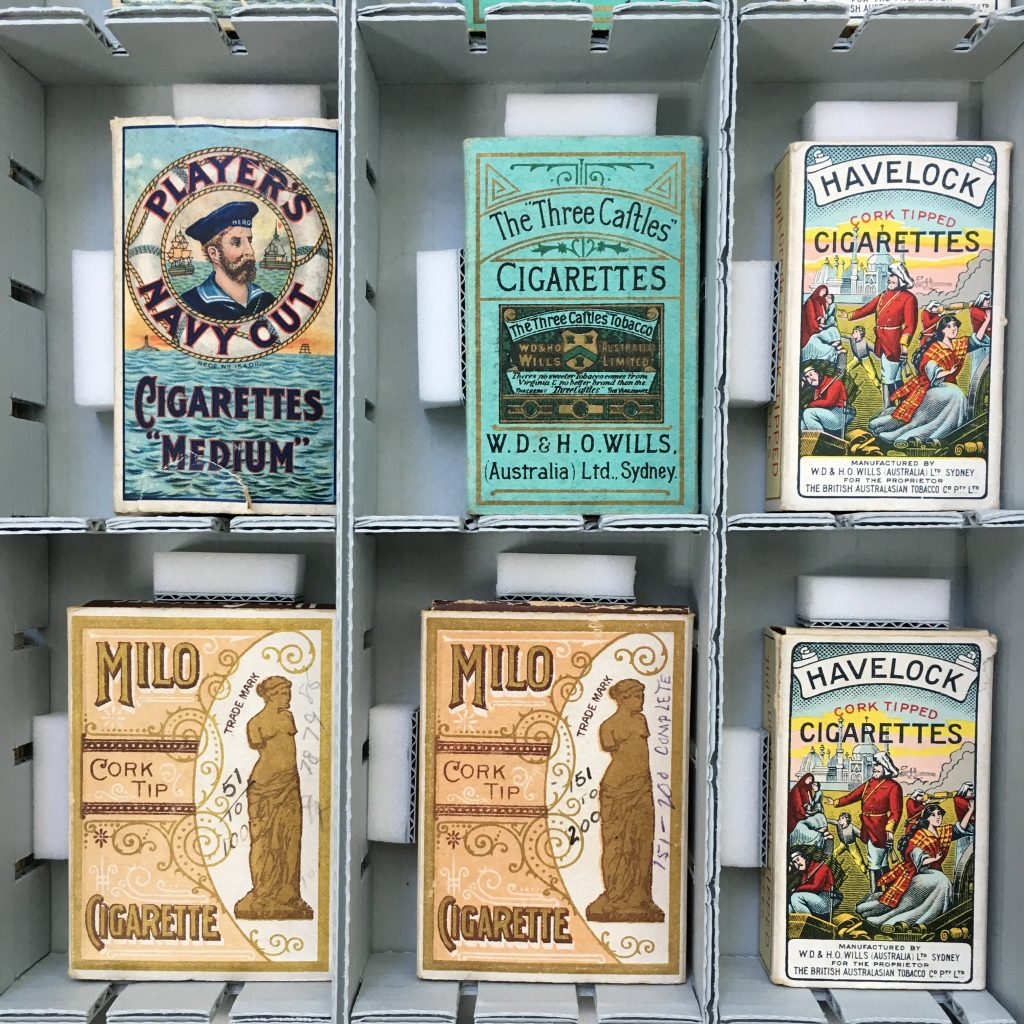vintage cigarette packets