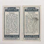 backs of first aid cigarette caards