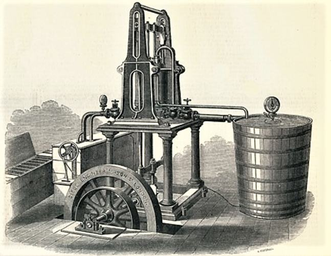 Picture of Harrison's ice making machine