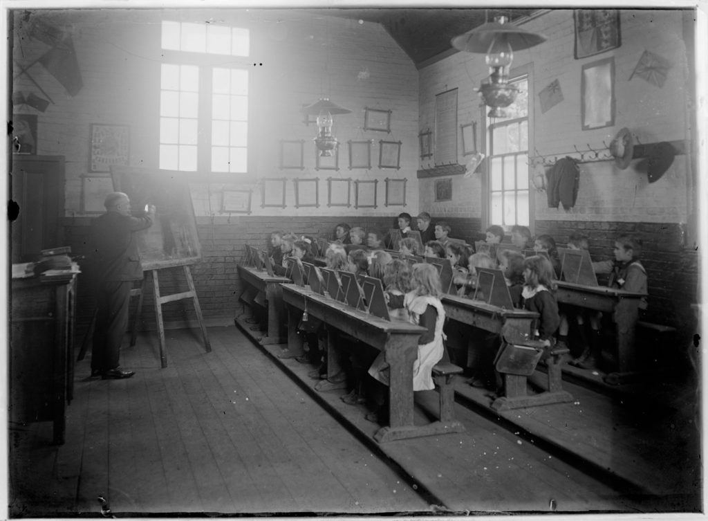 Photograph of 19th-century classroom
