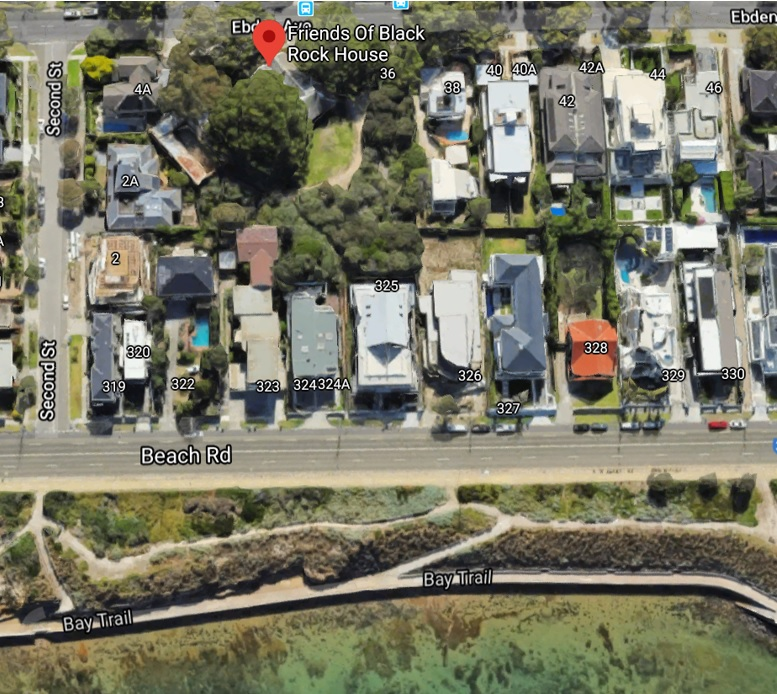 Aerial image of Black Rock House from Google Maps