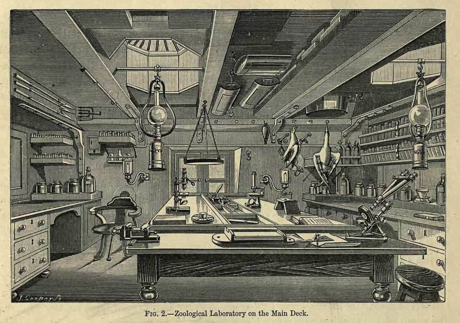 Interior of the HMS Challenger laboratory