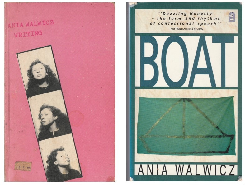 Covers of two of Ania's early works: Writing and Boat