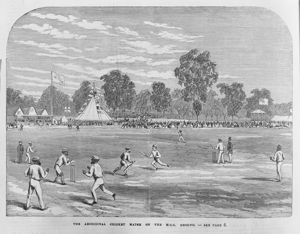 The Aboriginal Australian cricket match on the M.C.C. ground