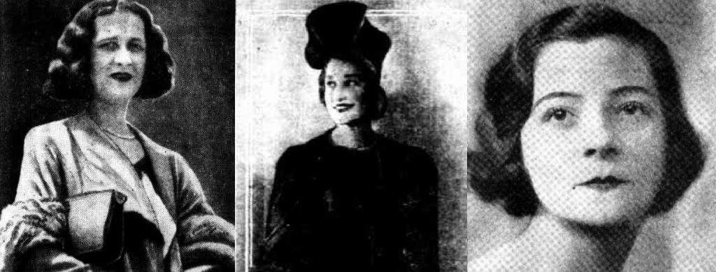 Image depicting three brownout murder victims:  Ivy Violet McLeod, Pauline Thompson and Gladys Hosking