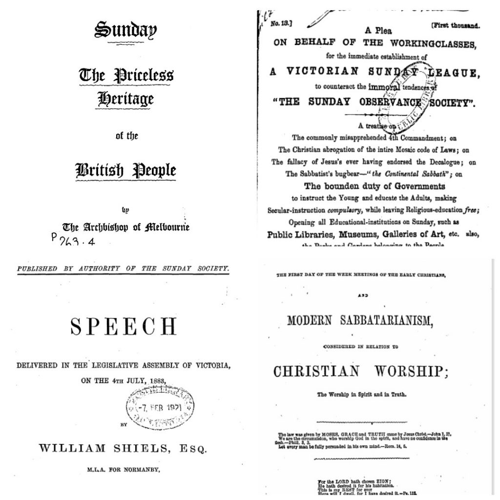 Detail from various pamphlets