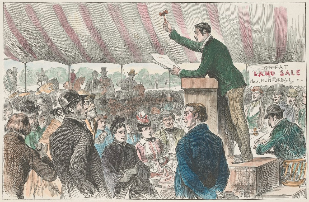 Picture of crowd at land auction