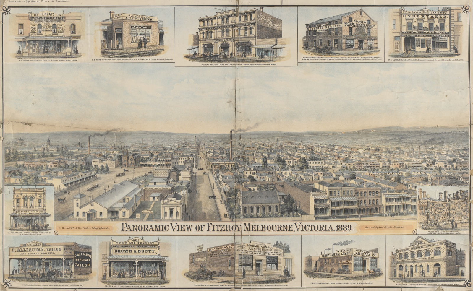 Panoramic view of Fitzroy
