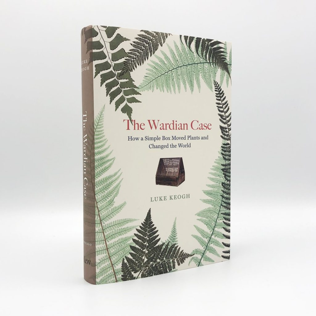 A book cover with fern leaves on it