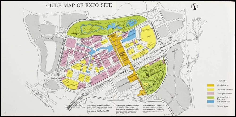Colour guide map of expo site